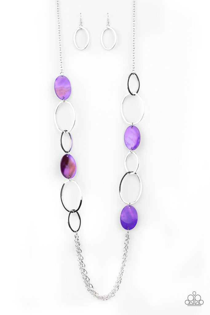 Kaleidoscope Coasts Purple Necklace