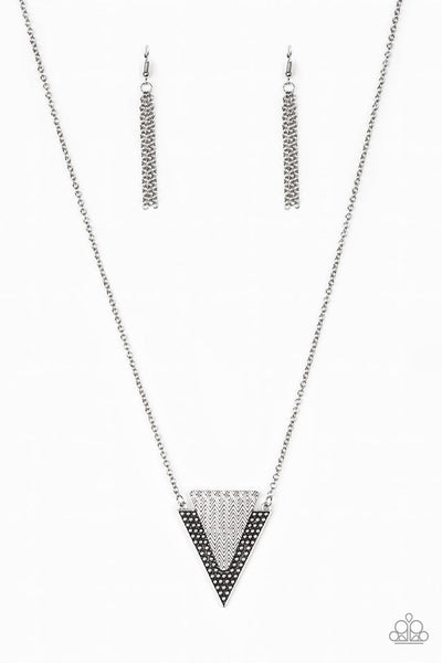 Ancient Arrow Silver Necklace
