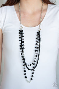 New York City Chic Black Necklace