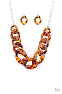 Red-HAUTE Mama Brown Necklace
