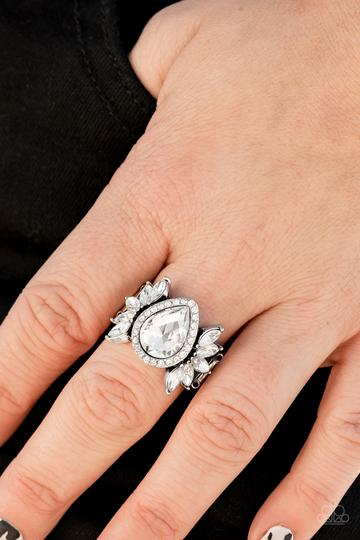 Regal Regalia White Rhinestone Ring