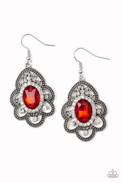 Reign Supreme Earring-Red