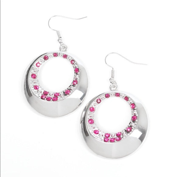 Ringed in Refinement Pink Earring