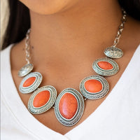 Sierra Serenity Orange Necklace