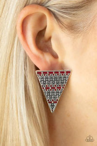 Terra Tricolor Red Post Earring