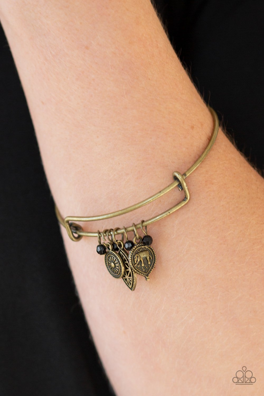 The Elephant In The Room Brass Bracelet