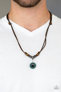 Tiki Thunder - Green Urban Necklace