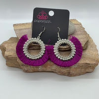 Fringe Fanatic Purple Earring