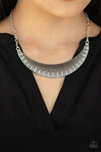 Modern Day Moonshine White Necklace