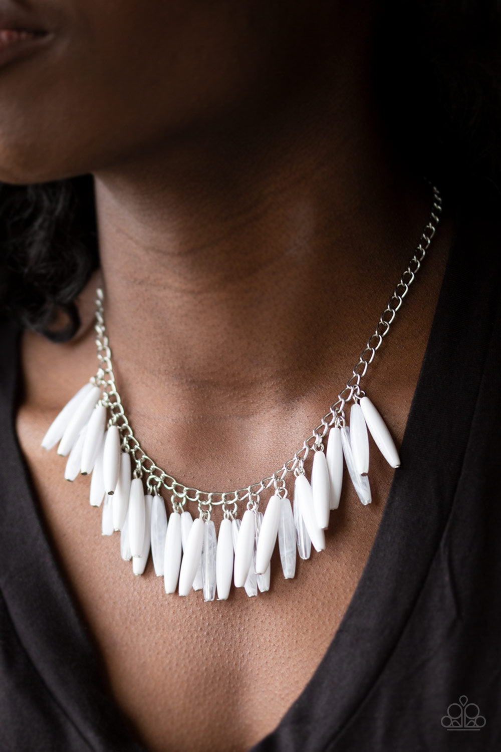 Full of Flavor White Necklace