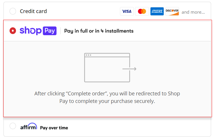 Paying in installments with Shop Pay