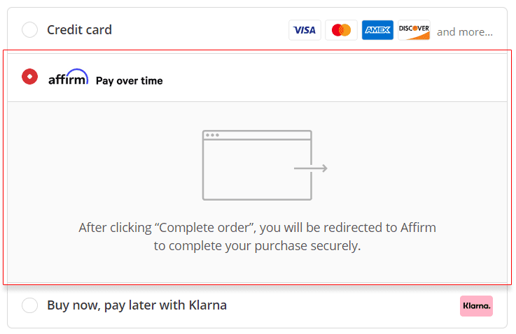Paying With Affirm