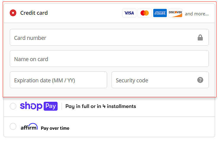 Paying with your credit card