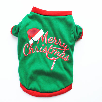 Dog christmas costume t-shirt vest