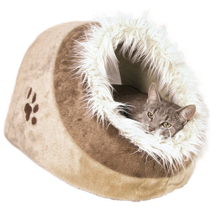 Trixie Minou Cushy and Cuddly Cave, 41 x30 x50 cm, Beige/ Brown