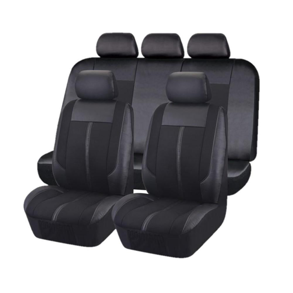 Universal Graphite Front and Rear Seat Covers Value Pack - Black
