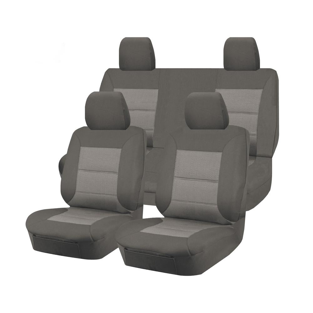 Tailor Made Premium Seat Covers for NISSAN NAVARA D23 SERIES 3-4 NP300 11/2017-ON DUAL CAB UTILITY GREY
