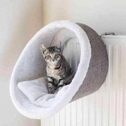 Trixie Radiator Cuddly Cave, 38x34cm, White/Grey