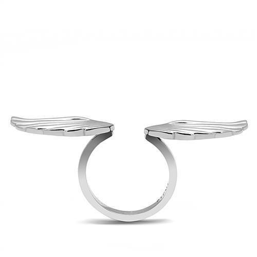 TK3145 High polished (no plating) Stainless Steel Ring with No Stone in No Stone