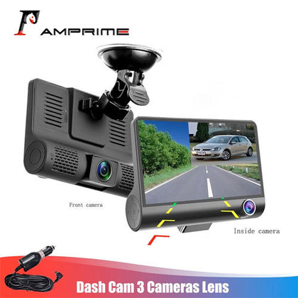 Three Way Car DVR FHD Lens Video Recorder Camera