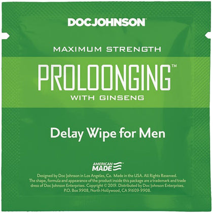 Doc Johnson Prolong with Ginseng Delay Wipe for Men