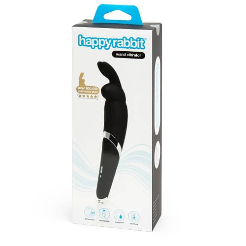 Happy Rabbit Rechargeable Wand Vibrator Black