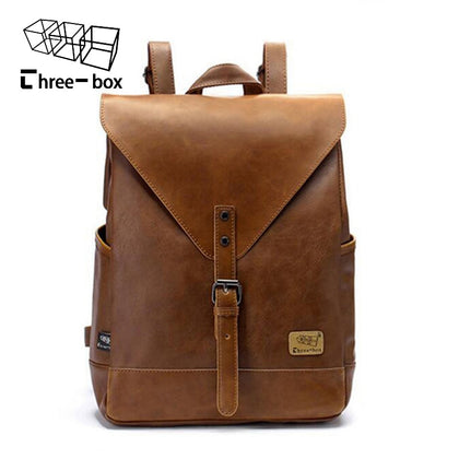 Mens leather business  laptop shopping travel bags