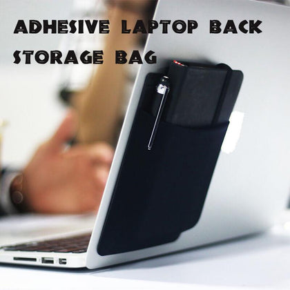 Adhesive Laptop Back Storage Bag