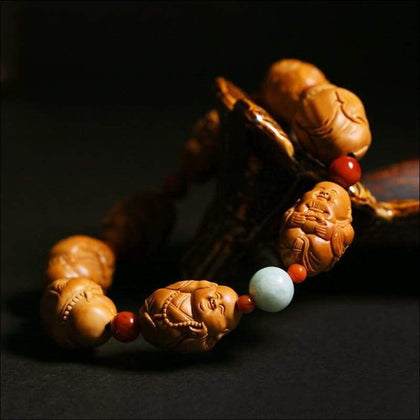 Pure Handcarved Beaded Buddha Bracelet