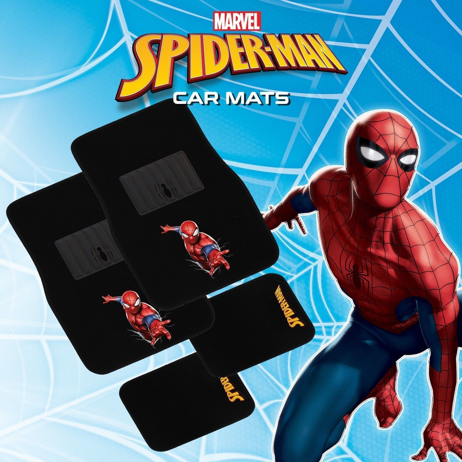 MARVEL AVENGERS 4-Piece Car Mat - SPIDER-MAN