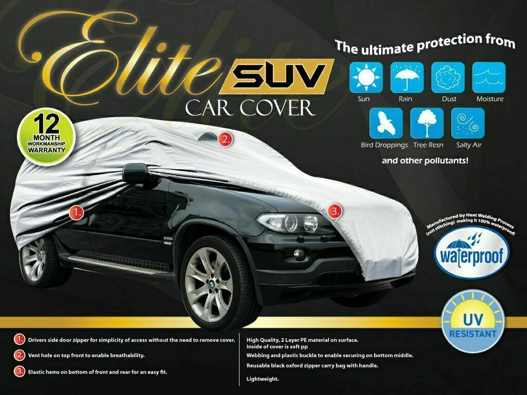Extra Large SUV Car Cover - Waterproof & UV Protection [5.08m]