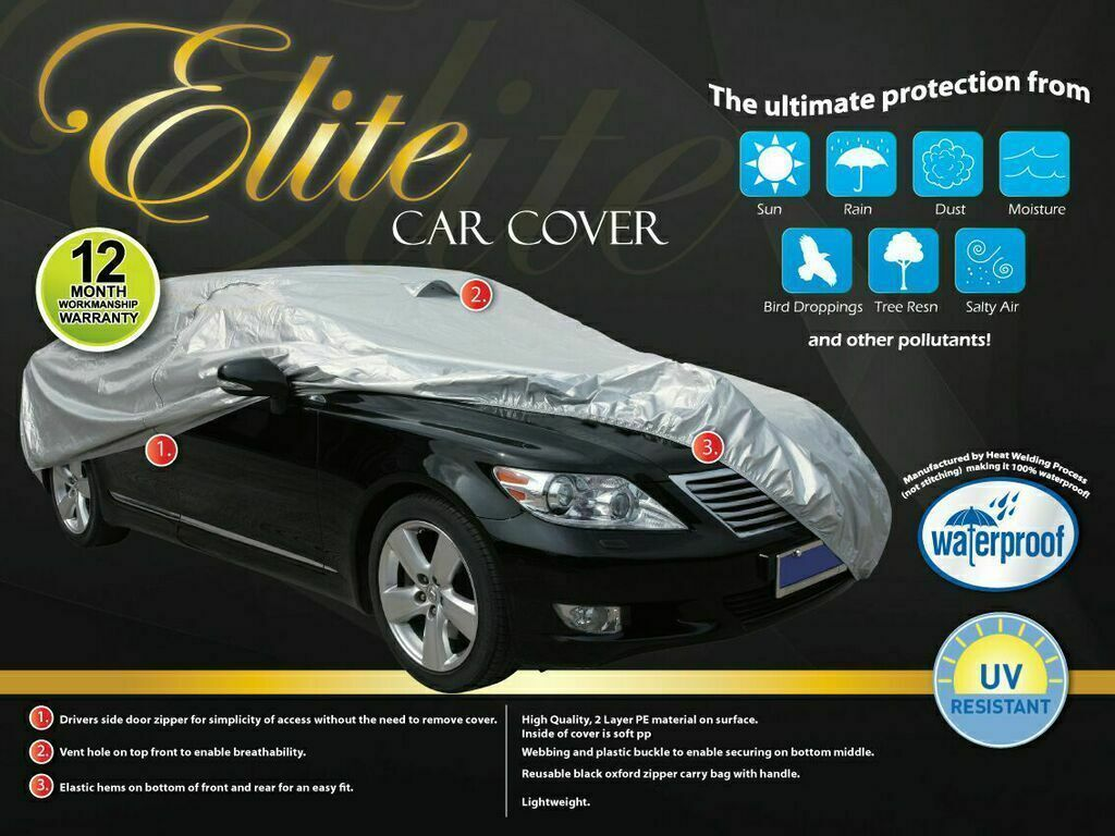 Extra Large Car Cover - Waterproof & UV Protection [4.82m]