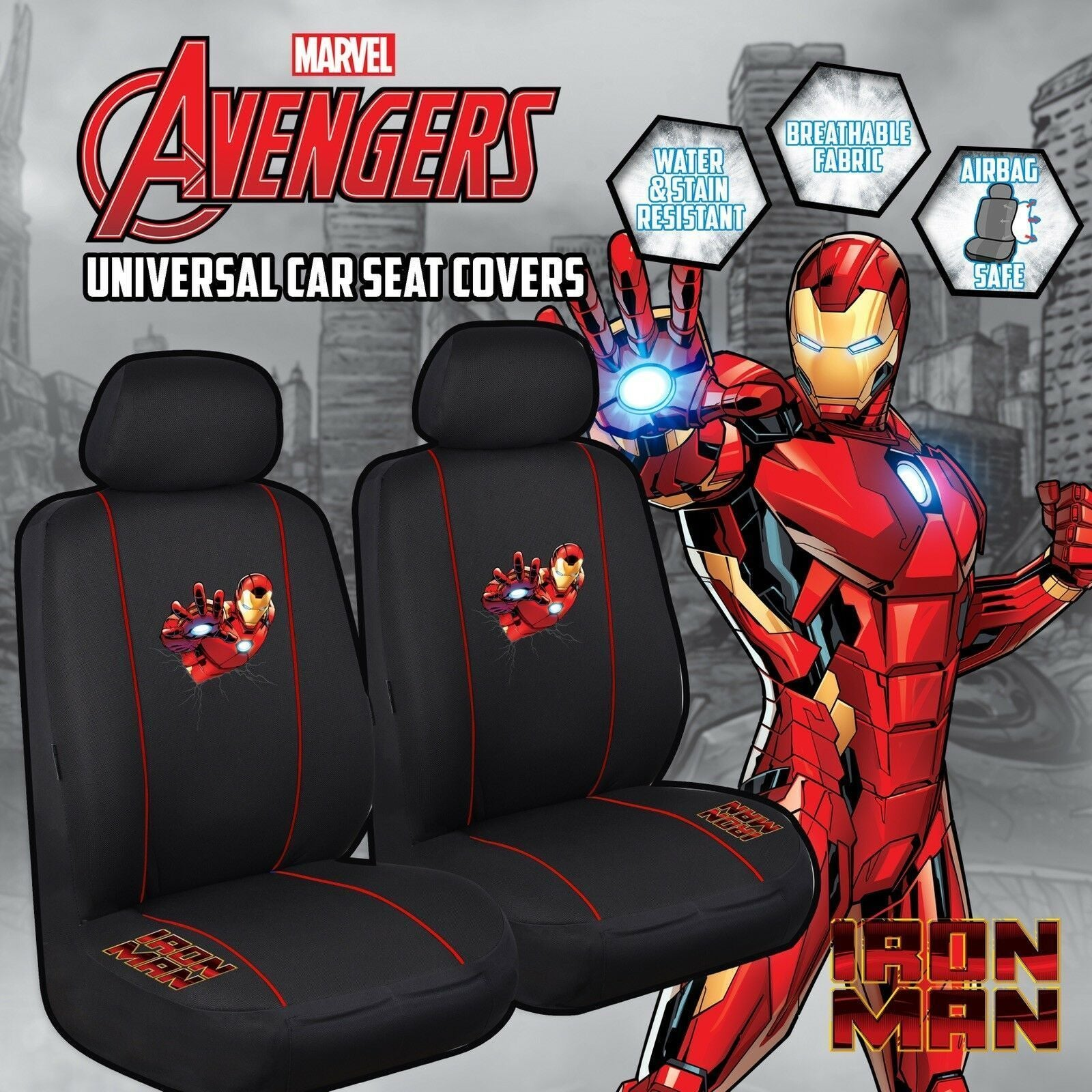 MARVEL AVENGERS Universal 30/35 Car Seat Cover - IRON MAN