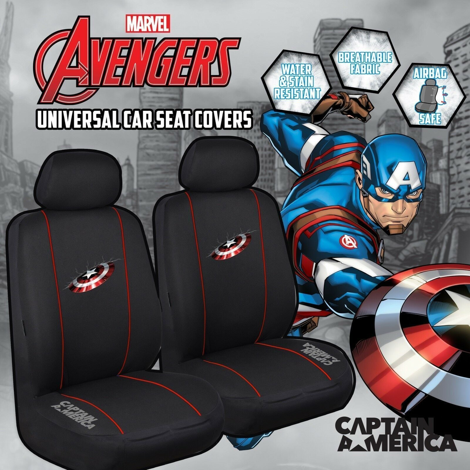 MARVEL AVENGERS Universal 30/35 Car Seat Cover - CAPTAIN AMERICA