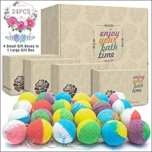Shea Butter Lavender 24PC Bath Bomb Set