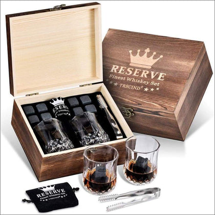 Shot Glass Wooden Gift Set Box