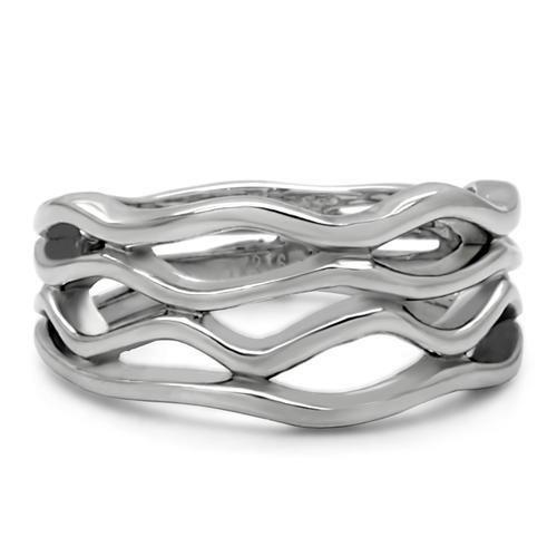 TK154 High polished (no plating) Stainless Steel Ring with No Stone in No Stone