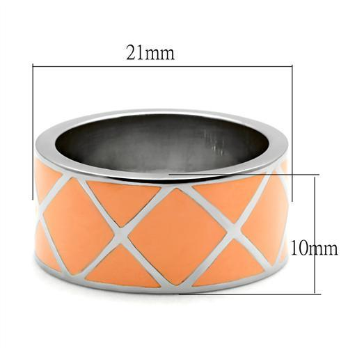 TK218 High polished (no plating) Stainless Steel Ring with No Stone in No Stone
