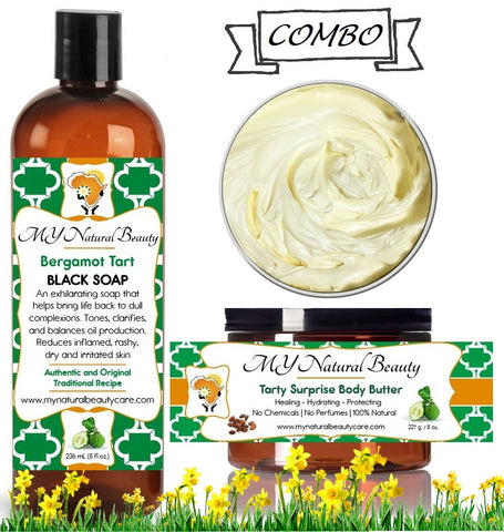 BERGAMOT Body Butter and Bergamot Black Soap COMBO