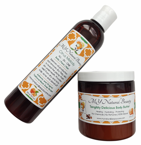 TANGERINE & MINT | Black Soap and Shea Butter Combo (BODY & SKIN) - If you want to SAVE MONEY, combine your Liquid Black Soap with a Healing Body Butter. ALL of our products are hand-made in small batches and Guaranteed FRESH! There is no need to worry about harmful side effects... Our products have NO Hidden Chemical Ingredients... South Florida, Miami, Lauderdale, USA