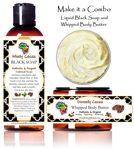BLACK SOAP with CHOCOLATE AND MINT | SHEA BUTTER with MINT