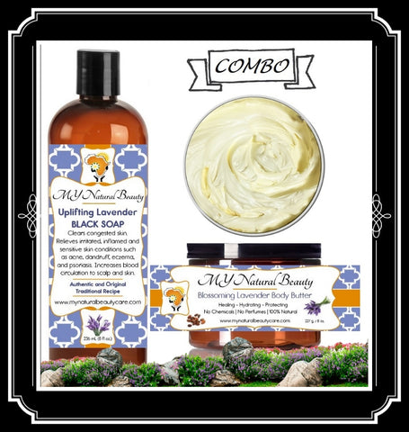 LAVENDER Body Butter and Black Soap COMBO