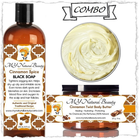 CINNAMON Body Butter and Black Soap COMBO
