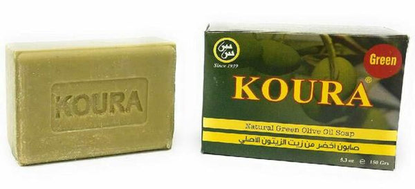 KOURA OLIVE OIL SOAP is 100% natural, made with olive oil extracted from hand picked olives grown in the northern part of Lebanon. The benefits of this soap are clearly noticeable when used. Great for acne, blemishes, dark spots, oily skin, dry skin.