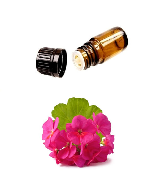Buy Pure GERANIUM Essential Oil (Therapeutic Treatment) MY Natural Beauty essential oils are 100% pure and natural - Steam distilled from the flowers of the Egyptian geranium plant. The calming and soothing properties are used to moisturize and promote healthy skin.