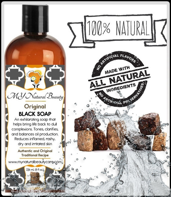 Original Liquid Black Soap | Made by traditional hand blending, our authentic hand made recipe is made purely from all natural ingredients and healing herbs. With over 25 years experience, we offer ONLY the best Liquid Black Soap available for online shoppers. All of our liquid black soaps have a healthy, rich, creamy lather which softens, and turns skin silky smooth