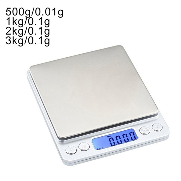 0.01/0.1g Precision LCD Digital Scales 500g/1/2/3kg Mini Electronic Grams Weight Balance Scale for Tea Baking Weighing Scale - The most popular products on Tiktok | GOWOW
