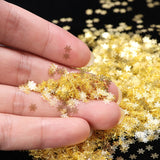 1 BOX Hollow Out Gold Nail Glitter Sequins Snow Flakes Mixed Design Decorations for Nail Arts Pillette Nail Accessories LA889-1 - The most popular products on Tiktok | GOWOW