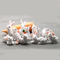 1 Pcs 12 Style Rabbit Easter Decoration Miniature Hare Animal Figurine Resin Craft Mini Bunny Garden Ornament DIY Accessories - The most popular products on Tiktok | GOWOW