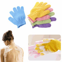 1 Piece Exfoliating Gloves Mitt  Bath Shower Scrub Tan Dead Skin Removal Exfoliator Elastic Five-Finger Bath Gloves Random Color - The most popular products on Tiktok | GOWOW